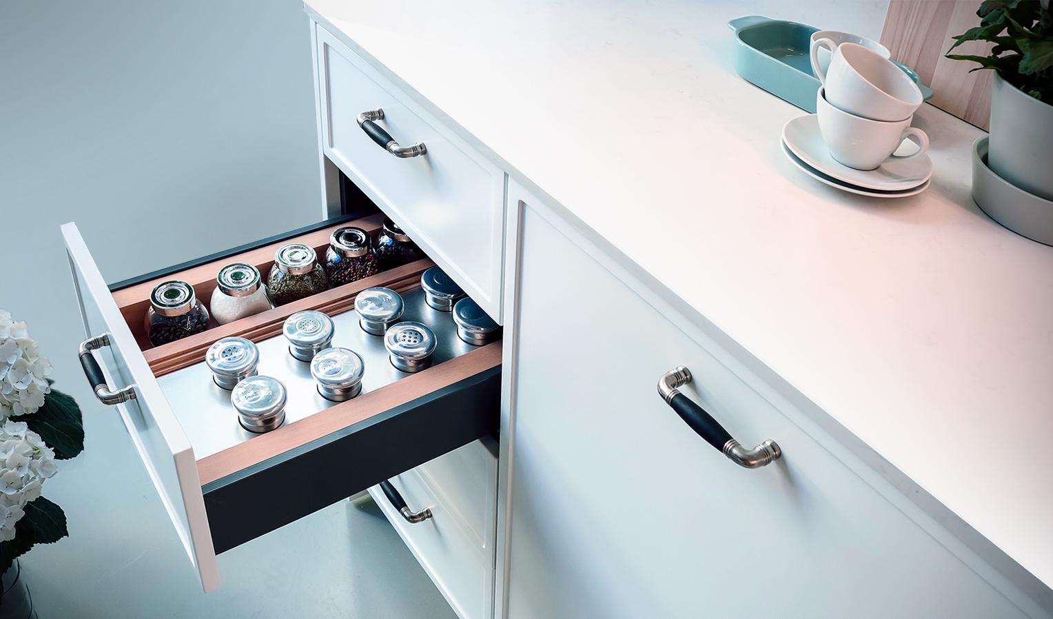 detalle cajón de cocina