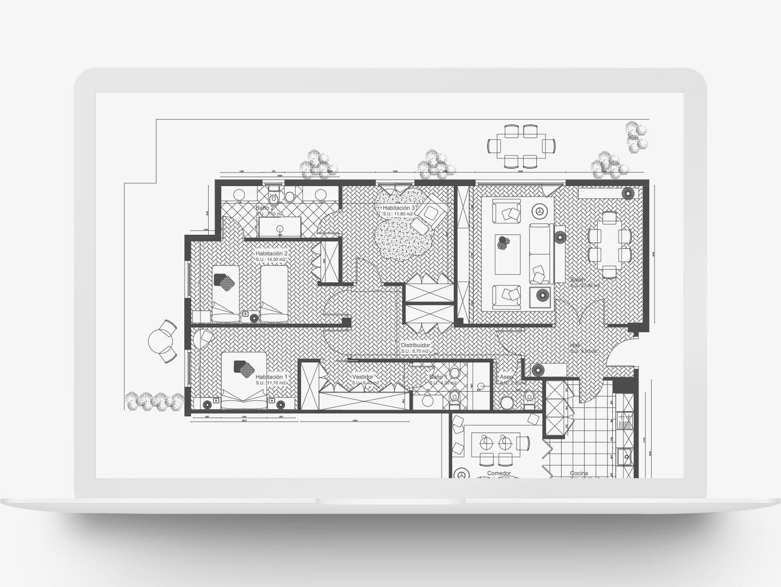 plano de casa en portatil